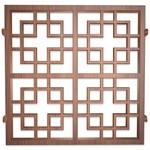 鋁型材焊接木紋色鋁窗花廠家