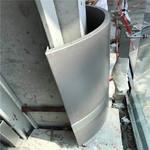 彩色包柱鋁單板-圓形包柱鋁板定制