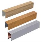 木紋U型鋁方通廠家 吊頂鋁方通定制