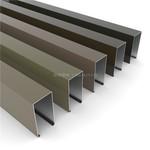 铝格栅吊顶 60*100木纹色铝方通