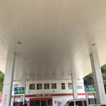 加油站300面宽斜角抗风条形铝扣板