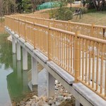 竹纹铝圆管防护围栏定制厂家