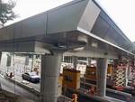 室外雨棚造型铝单板工程案例