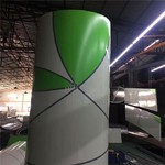 一块板面喷涂两种颜色的铝单板厂家