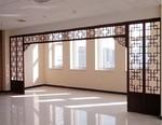 走廊中式仿古铝花格铝隔断定制