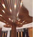 餐厅波浪形吊顶室内弧形铝方通