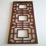 中式倣古木紋鋁窗花-德普龍廠家