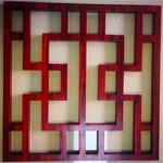 方格铝窗花/回字型铝花格/万字装饰