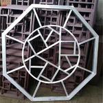 中式铝合金防盗窗/铝花格窗防盗网