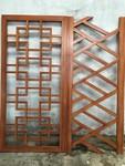 仿古木纹铝合金窗厂家/中式花格窗