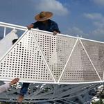 周口仿木纹长城铝板波浪形长城板价格哪里找