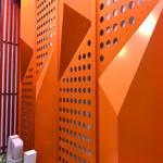 广东湛江商场吊顶弧形镂空铝单板