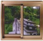 鋁木復合隔熱門窗型材天津大邱莊牌