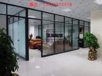鋁合金中空雙面鋼化玻璃百葉隔斷廠