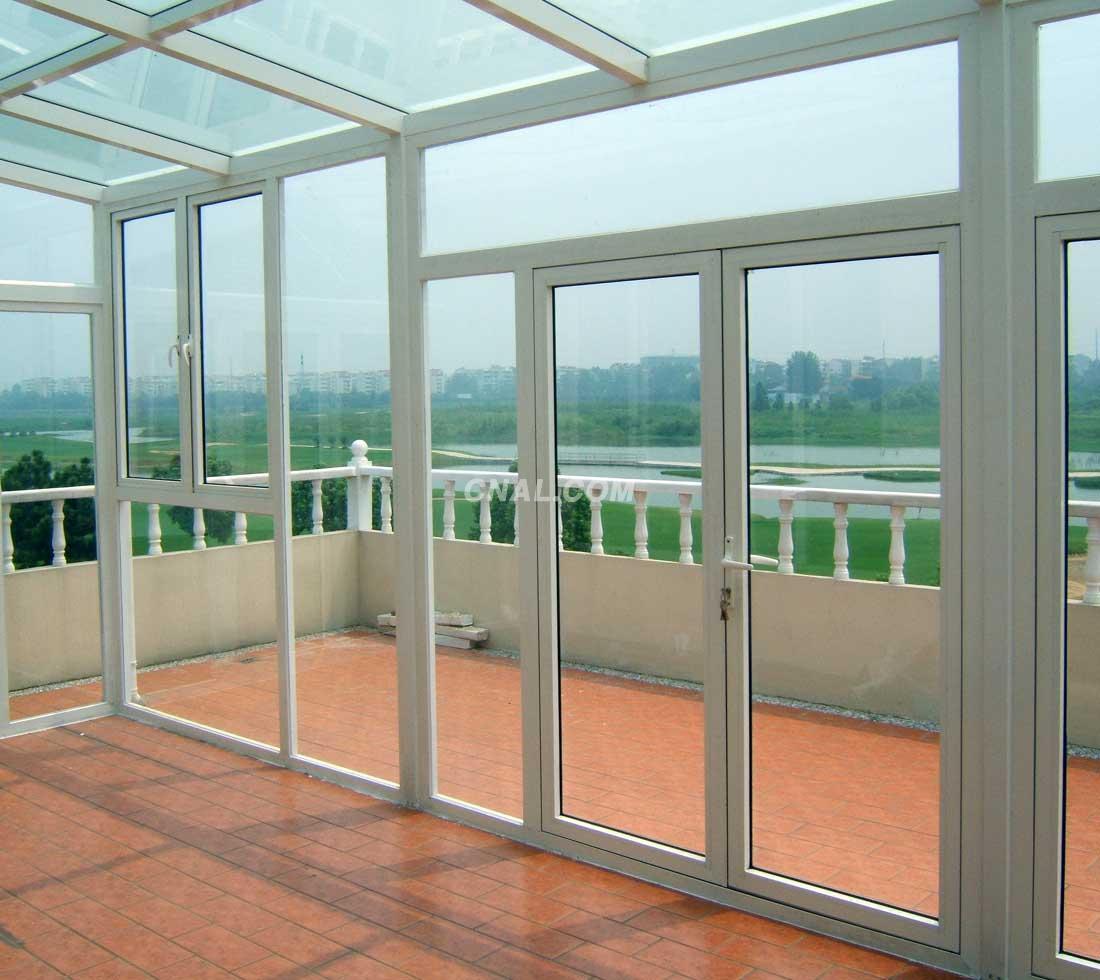 断桥铝合金门窗 铝合金制品 高清图片