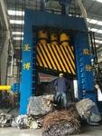 廢鋁型材壓塊機800噸y81前翻包