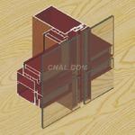 美鱼铝材·110系列隐框幕墙型材