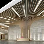 造型背景�椈T方通 弧形鋁方通廠家