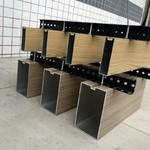 木纹凹槽型铝方通厂家