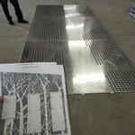 冲孔铝板背景墙 艺术冲孔铝板定制