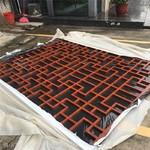 鋁合金焊接木紋鋁窗花定制生產廠家
