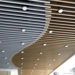 木纹铝方通吊顶天花装饰定制厂家
