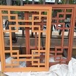 木纹铝花格木纹铝窗花定制生产厂家