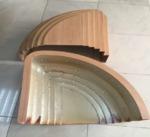 异形弧形木纹铝单板制造厂商筑耀