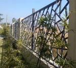 街道外立面花格 鋁窗花 倣木紋
