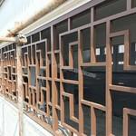 供應街道改造倣古鋁窗花木紋鋁花格