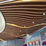 铝型材拉弯木纹弧形铝方通厂家供货