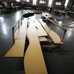 廠家定制弧形鋁方通弧形焊接鋁單板