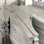 木纹铝合金格栅波浪造型弧形铝方通