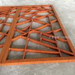 四合院美景條鋁屏風鋁方管焊接成型