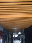 木紋色隔斷鋁型材,凹凸型鋁方通