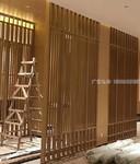 木纹铝合金百叶铝屏风定制