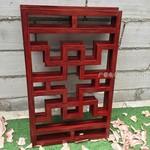 暗红色复古铝屏风装饰材料加工厂