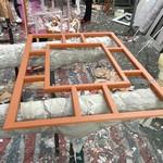 小区装饰金属仿古窗铝屏风材料