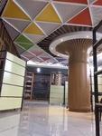 學校改造木紋色鋁方通,隔斷鋁型材