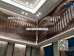 連廊道倣木紋鋁型材,板材鋁方通吊頂