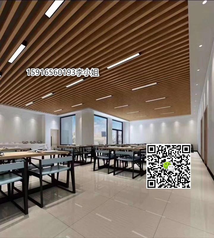 连廊道仿木纹铝型材,板材飘逸灵动