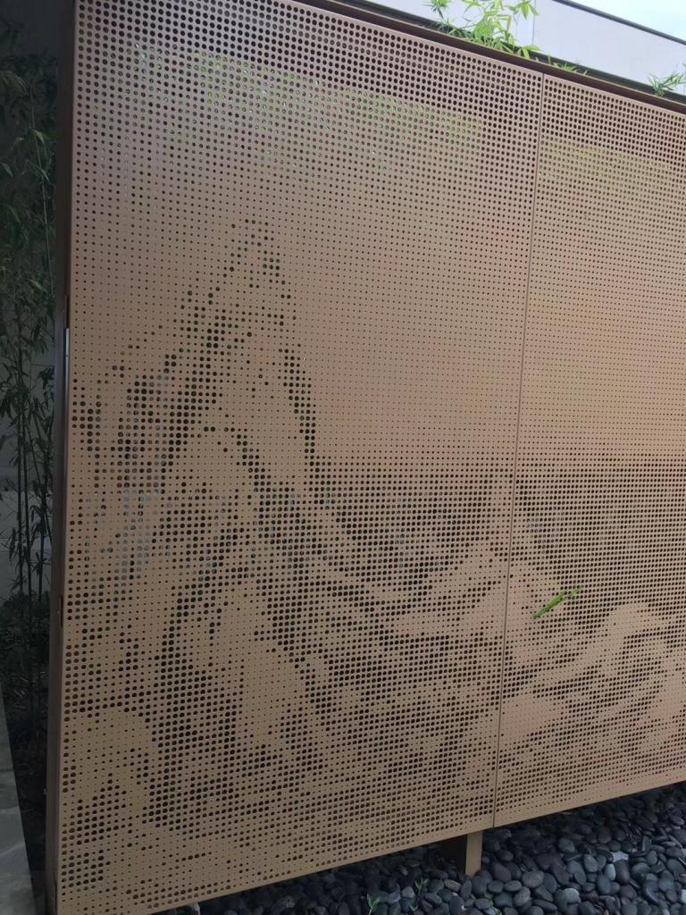 衝孔透光幹挂鋁板,穿孔鋁單板採購商