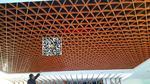 背景墙仿木纹铝条 铝质条型效果图