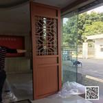 连廊隔热铝合金型材格栅 铝花格