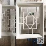锌色铝窗花 售楼处花格铝格栅定制