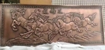 紫古铜铝艺壁画 墙面6mm厚壁画图