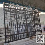 景区中式仿古铝合金木纹花格窗