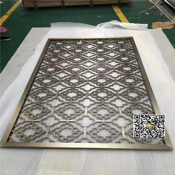 菱形隔斷屏風-雕刻格子鋁屏風