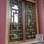 仿古门窗仿木色铝窗花