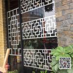 门厅改造铝格栅铝窗花定制